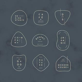 Conjunto de logos mínimo