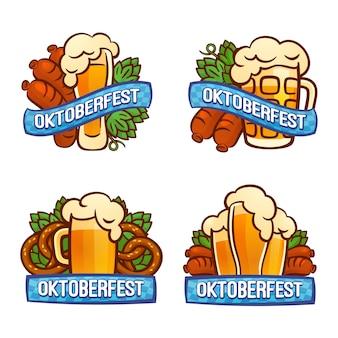 Conjunto de logos oktoberfest