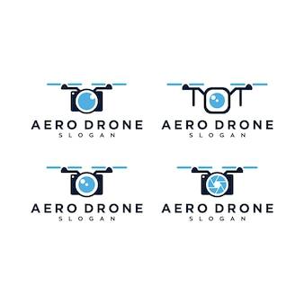 Conjunto de logotipo aero drone