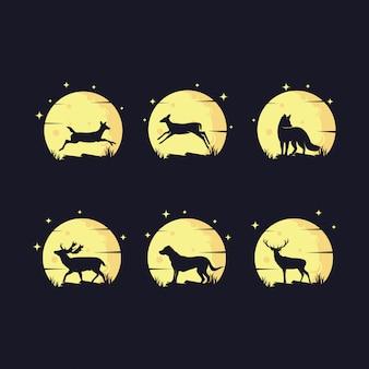 Conjunto de logotipo animal