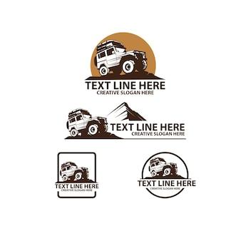 Conjunto de logotipo de aventura