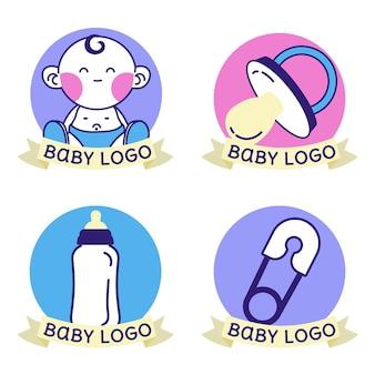 Conjunto de logotipo de bebé
