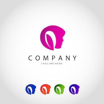 Conjunto de logotipo de belleza de lujo de colección.