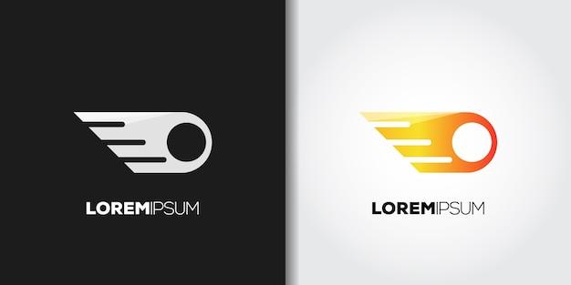 Conjunto de logotipo de bola de fuego