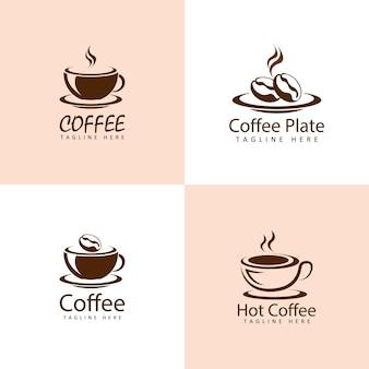 Conjunto de logotipo de café