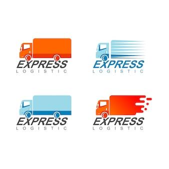 Conjunto de logotipo de camión