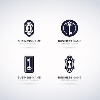 Conjunto de logotipo de cerradura de puerta