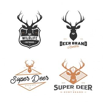 Conjunto de logotipo de los ciervos