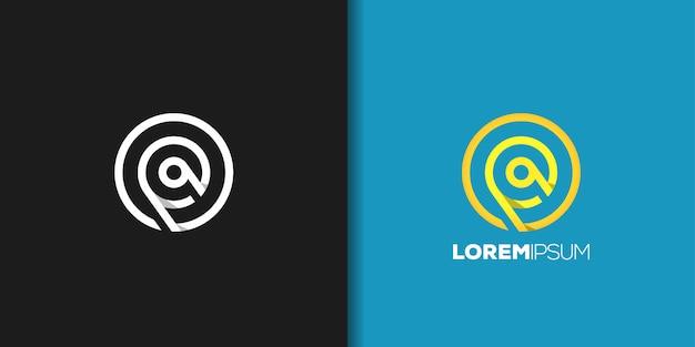 Conjunto de logotipo de círculo amarillo
