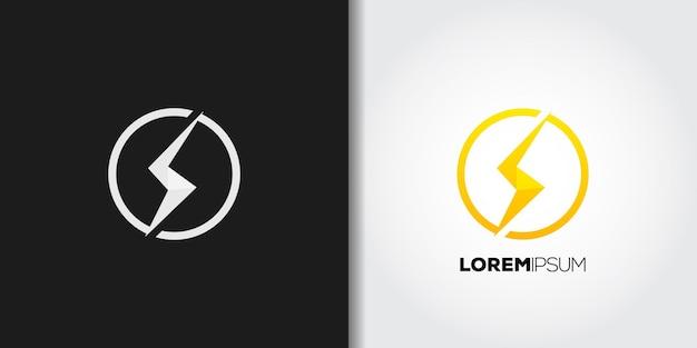 Conjunto de logotipo de círculo eléctrico