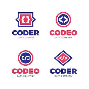 Conjunto de logotipo de código