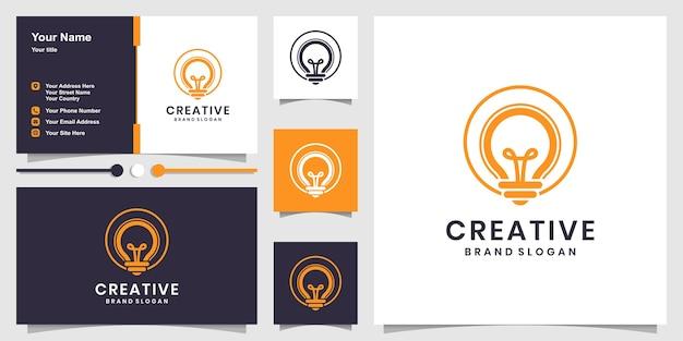 Conjunto de logotipo creativo y tarjeta de visita.