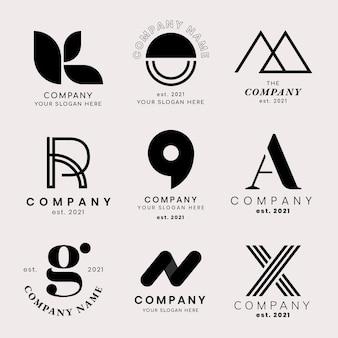 Conjunto de logotipo de empresa clásica profesional
