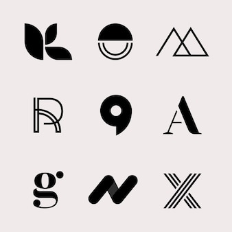 Conjunto de logotipo de empresa clásico moderno