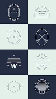 Conjunto de logotipo de empresa simple