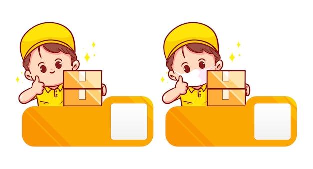 Conjunto de logotipo de entrega