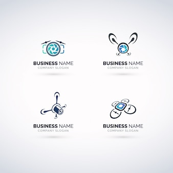 Conjunto de logotipo de fotografía