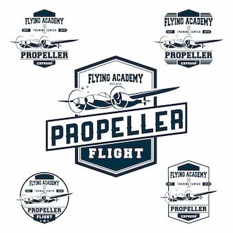 Conjunto de logotipo de la fuerza aérea.