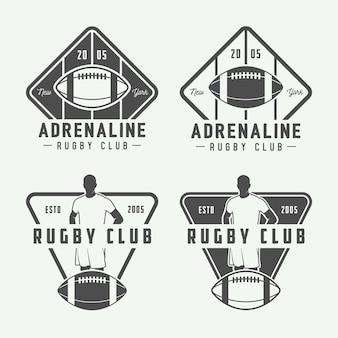 Conjunto de logotipo de fútbol americano