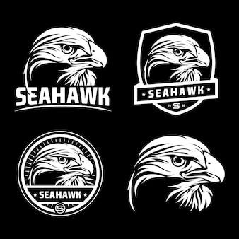 Conjunto de logotipo de halcón
