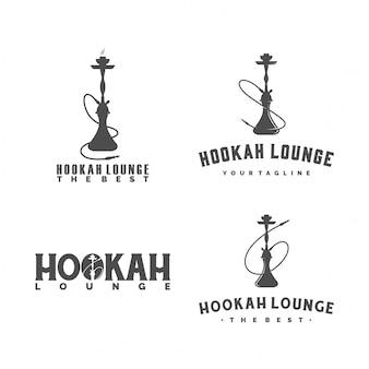 Conjunto de logotipo hookah