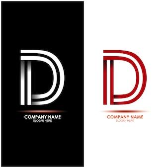 Conjunto de logotipo de letra inicial d