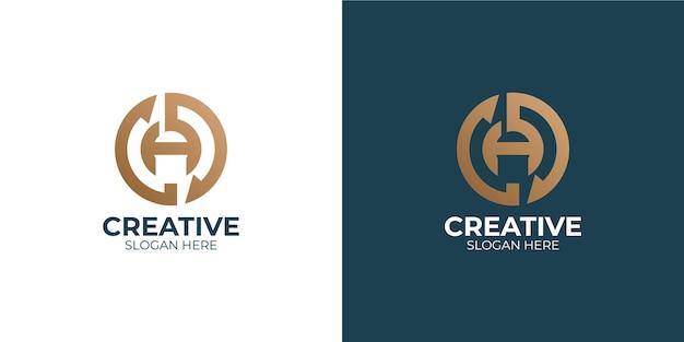 Conjunto de logotipo de letra a simple y moderno
