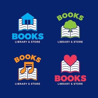 Conjunto de logotipo de libro