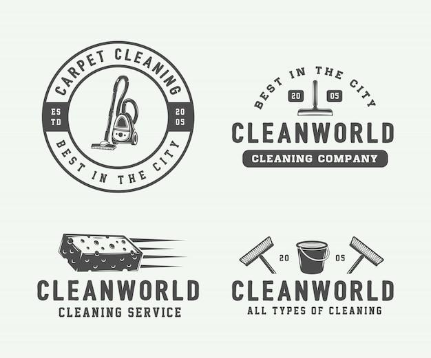 Conjunto de logotipo de limpieza