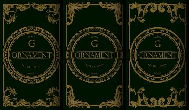 Conjunto de logotipo de lujo.