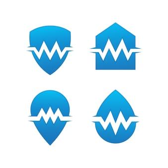 Conjunto de logotipo médico de salud.