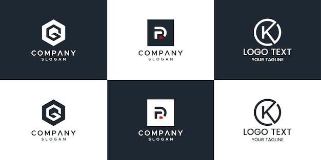 Conjunto de logotipo de monograma