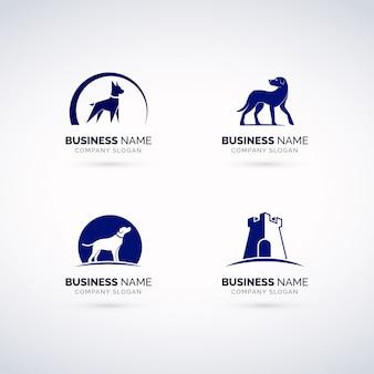 Conjunto de logotipo de seguridad