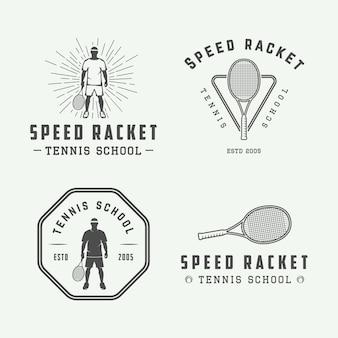 Conjunto de logotipo de tenis