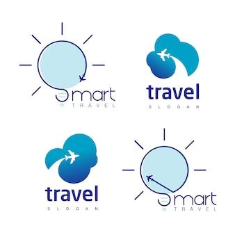 Conjunto de logotipo de viaje