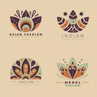 Conjunto de logotipos de accesorios de moda planos