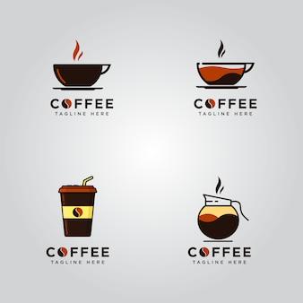 Conjunto de logotipos de café