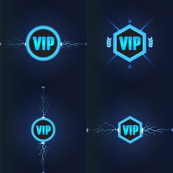 Conjunto de logotipos del club vip