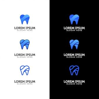 Conjunto de logotipos dentales