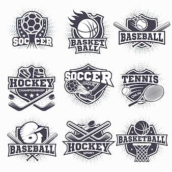 Conjunto de logotipos deportivos