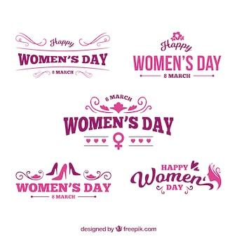 Conjunto de logotipos para el día de mujeres