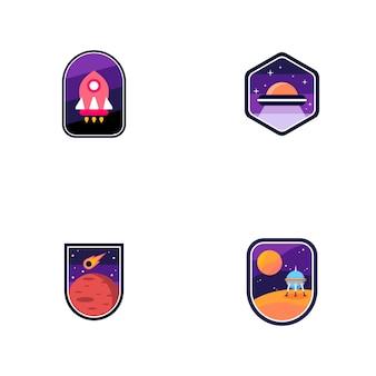 Conjunto de logotipos espaciales