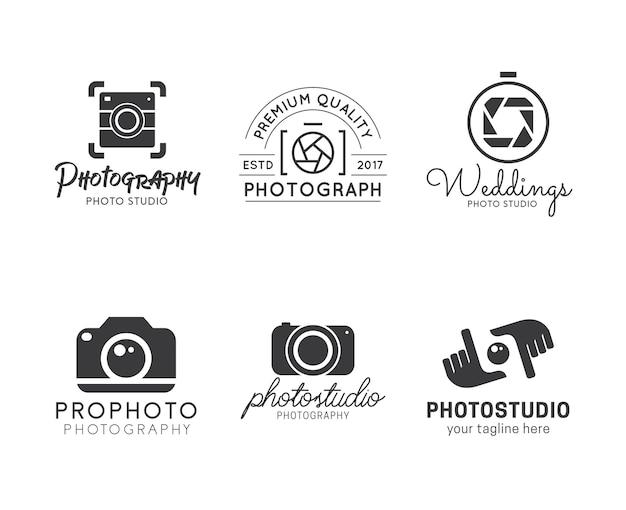 Conjunto de logotipos de fotografía