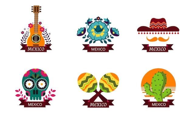 Conjunto de logotipos de méxico.