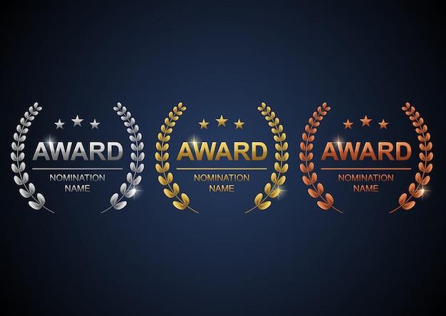 Conjunto de logotipos de premios