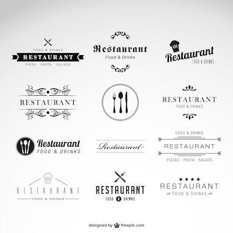 Conjunto de logotipos de restaurante