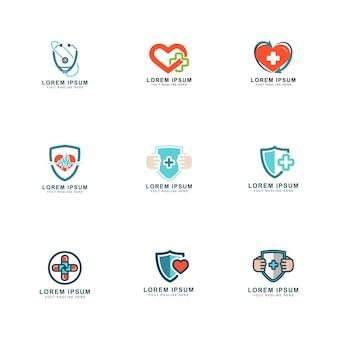 Conjunto de logotipos de salud
