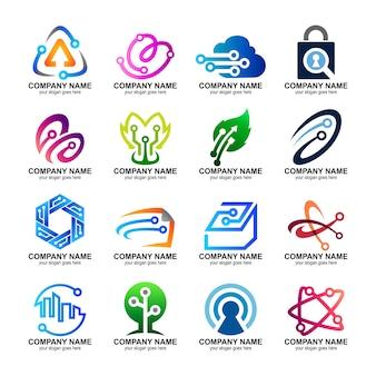 Conjunto de logotipos de tecnología