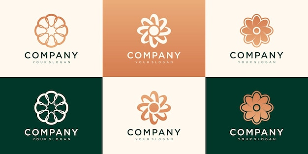 Conjunto de logotipos para tu negocio. asociación, lujo, sencillo, trabajo en equipo
