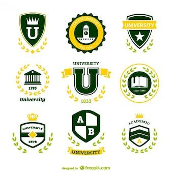 Conjunto de logotipos de universidad